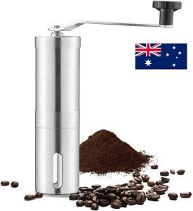 AU Manual Coffee Bean Grinder Stainless Steel Hand Coffee Mill Ceramic Burr