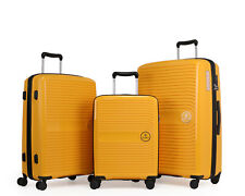 GinzaTravel Anti-scratch PP Material large capacity Yellow Luggage Suitcase