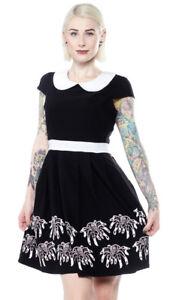 Sourpuss Creepy Crawlies Spiders Punk Tattoo Adult Womens Lizzie Dress SPDR329