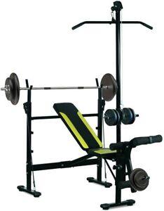 Banc de Musculation Station Fitness Entrainement Complet Dossier Multifonction