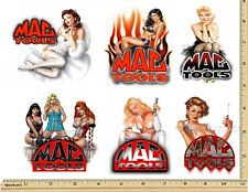 MAC TOOLS STICKER SET of 6 DECAL AUTO PARTS SHOP TOOL BOX SEXY PINUP GIRLS USA
