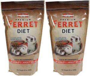 Marshall Pet Products Premium Ferret Diet 22 oz. 2-Pack