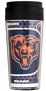 Official NFL Teams 16oz Acrylic Travel Tumbler Coffee Mugs (CHICAGO BEARS)