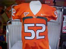 2007-13 Miami Hurricanes Football #52 Game/Team Issued Orange Jersey Nike Sz 44