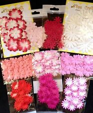 190 Flowers petals flower Lot assortment Handmade Mulberry Paper cardmaking 19