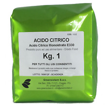 ACIDO CITRICO MONOIDRATO KG. 1 (BUSTA) - PURO 100%