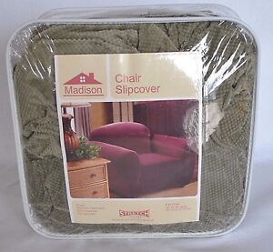 New Madison Chair Slipcover Stretch Fit Pique Green FURNITURE COVER Protector