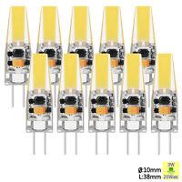 10x 1x G4 LED 3W COB Lampe Remplacer Lampe Halogène AC DC 12V Cool Blanc Chaud