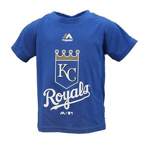 Kansas City Royals Official MLB Majestic Toddler Size Athletic Shirt New Tags