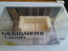 Miniatures Limited White Color Design Interior Collection Mini Chair Set B
