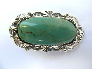 CHACO CANYON STERLING SILVER KINGMAN TURQUOISE RING SIZE 7 - NWT