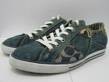 Coach Women's Denim Patch Sneakers Size 7.5 M
