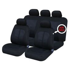VW PASSAT (05-15) FRONT & REAR CAR FULL SET SEAT COVERS CLOTH BLACK