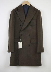 RRP$399 SUITSUPPLY BLEECKER INT Men UK36R Wool Double Breasted Brown Coat 19358*