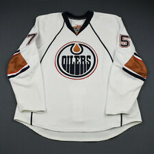 2009-10 Jamie Bates Edmonton Oilers Game Issued Reebok Hockey Jersey MeiGray NHL