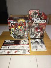 Hasbro Transformers Fall Of Cybertron Lot! Blaster! Sideswipe! 100% Comp.!