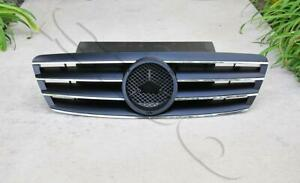 Black ABS 4 Fin Front Grille Grill Ftis 2001-2007 Mercedes-Benz W203 4DR C Class