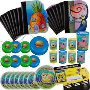 SPONGEBOB SQUAREPANTS FAVOR PACK (48pc) ~ Birthday Party Supplies Toys Stuffers