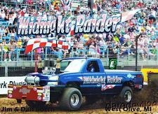 "2014 Jim & Dan Bosch ""Midnight Raider"" Chevy Tractor Pull postcard"