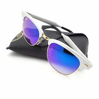 Ray Ban 3507 137/7Q Brushed Silver Gold Blue Fade Mirror New Sunglass Authentic