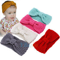 Kids Girl Baby Toddler Cute Crochet Bow Headband Hair Band Accessories Headwear