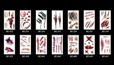 Halloween Party Sticker Zombie Horror Scar Stitches Wound Temporary Tattoo