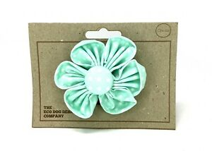 Mint Green Polka Dot, Dog Collar Flower,Detachable Flower, Dog Collar Accessory