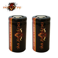 Demonfire IMR 18350 Flat Top Rechargeable LiMn Batteries High Drain 3.7V 1200mAh