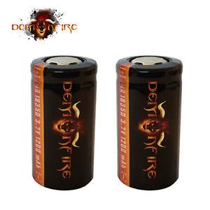 Demonfire IMR 18350 Flat Top Rechargeable LiMn Batteries High Drain 3.7V 1200mAh