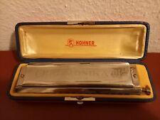 Große geputzte/desinfizierte HOHNER-Mundharmonika