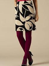 BODEN Velvet Mini Skirt NEW UK Size 10 R Tulip Print 10R Light Fudge / Black