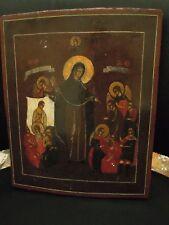 Icona russa XIX secolo, Russian Icon - Madonna degli afflitti -