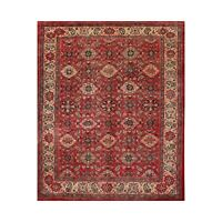 """8'10"""" x 11'7"""" Hand Knotted 100% Wool Traditional Mahal Oriental Area Rug Red"""