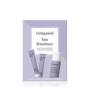 Living Proof Ban Brassiness Starter Kit For Blondes & Highlights Hair Color Care