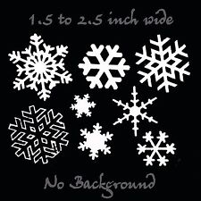 Snowflakes Decal 8 Pack - White Vinyl Snowflake Sticker Set