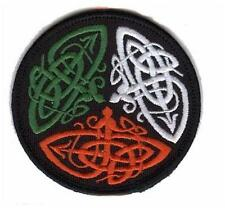 """Irish Round Celtic Knot Embroidered Badge Patch Ireland - 3"""" inches"""