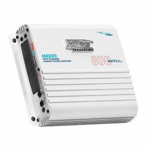 BOSS Audio MR800 Class A/B 800 Watt 2 Channel Full Range MOSFET Marine Amplifier