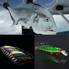 1pc Deep Green Minnow Fishing Lures Artificial Baits Lifelike Fishing Lure OE