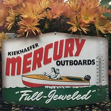 BOATING OUTBOARD METAL SIGN MOTOR TEMPERATURE  13 BY 10  VINTAGE LOOKING