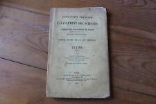 DIJON 1911  Compte-rendu de l'association pour l'avancement des sciences, Masson