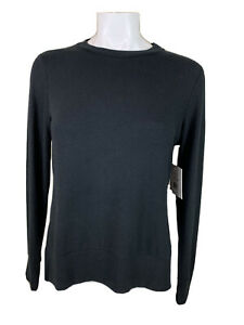 NWT Beyond Yoga Small Black Long Sleeve Pullover Crew Top NH7653 T314