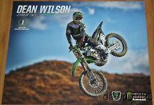 2014 Dean Wilson Monster Kawasaki KX250F AMA Supercross postcard