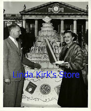 Jane Froman & Donald Millham GE Co's 75th Birthday Cake Cleveland, OH Photograph