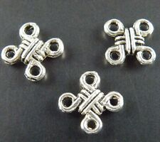 150pcs Tibetan Silver Beautiful Knot Connectors 10x10x2.5mm 101