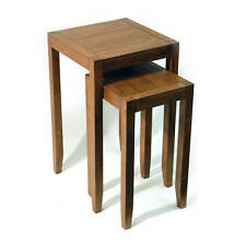 Solid Wood Nest of Two Tables - Walnut Effect OC1076W