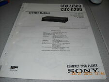 Sony cdx-u300 COMPACT DISC PLAYER Service Manual INCL. supplemento n. 2