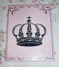 8x10 Sign, Shabby, French, Cottage, Paris, Vintage Decor- Crown Art-Choose Color