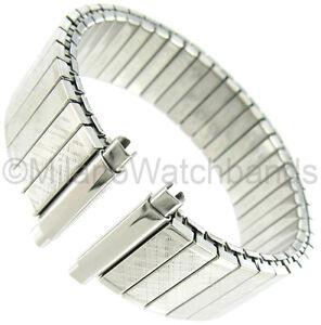 16-21mm Speidel Twist-O-Flex Silver Tone Stainless Steel Watch Band 672/03 XL