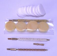 Gun Cleaning Pack (Cleaning Patches, Mop, Brush, Jag) - 17 cal - 5/40 thread