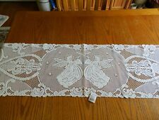 NWT HERITAGE ALPINE LACE TABLE RUNNER ANGELS